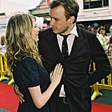 Heath Ledger and Michelle Williams brought their PDA to the red carpet during a January, 2006 Brokeback Mountain premiere in Australia.