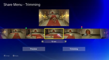 Sony says recording game-play is simple with the new user interface. You can choose a segment of game-play and upload the video in the background while continuing to play.