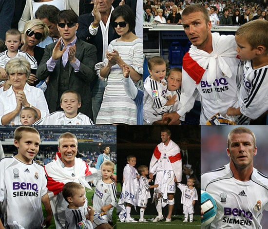 Beckham Boys Bid Farewell To Real Madrid