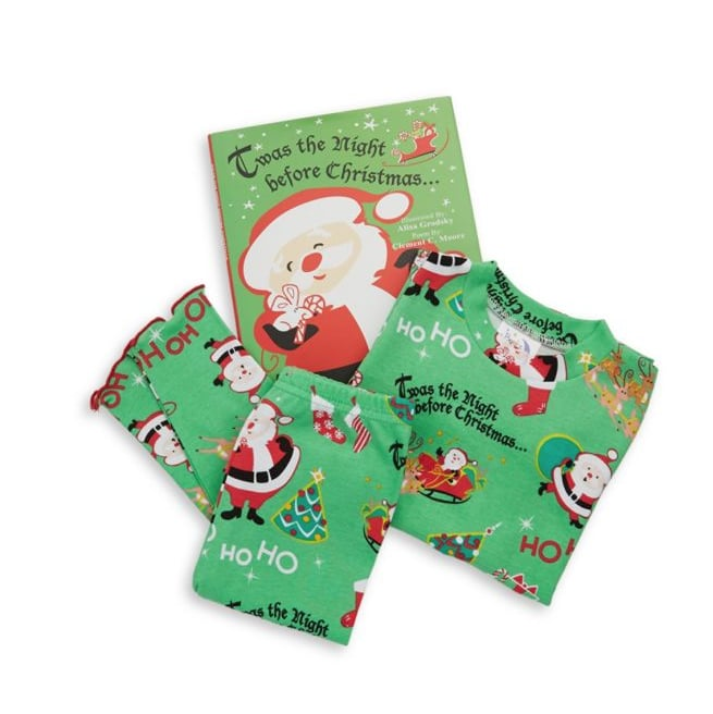 Books To Bed Toddler S Little Boy S Three Piece Twas The Night Cotton Pajamas Book Set The Cutest Holiday Pajamas For Kids Popsugar Family Photo 2
