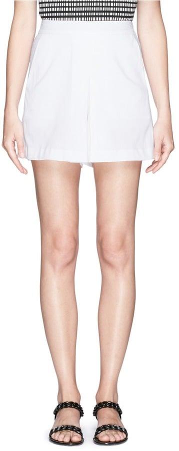 Theory Taminara Inverted Pleat Shorts ($235)