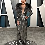 Sandra Oh at the Vanity Fair Oscars Afterparty 2020