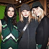 Kendall Took a Backstage Shot at H&M With Gigi and Devon Windsor