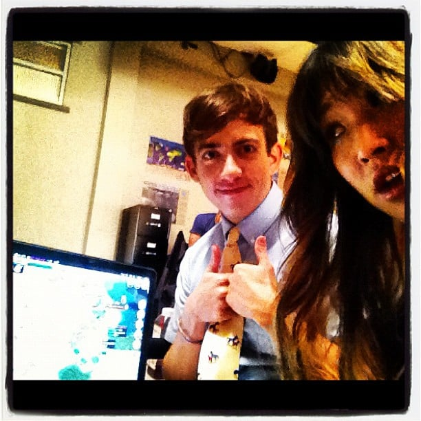 Jenna Ushkowitz and Kevin McHale bonded on the set of Glee. Source: Instagram user jennaushkowitz