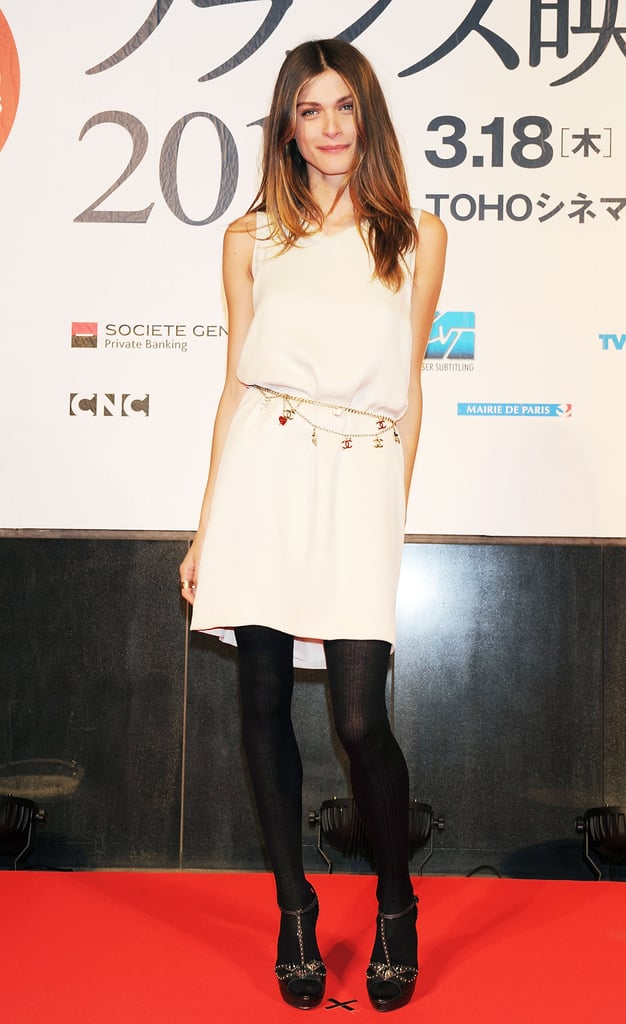 It's this kind of effortless chic we love about Elisa — something so sexy and altogether easy about this LBD and tights look at the French Film Festival last year.