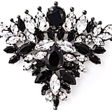 Ermanno Scervino Crystal Triangle Brooch
