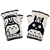 Totoro Hand-Knit Fingerless Wool Gloves ($50)