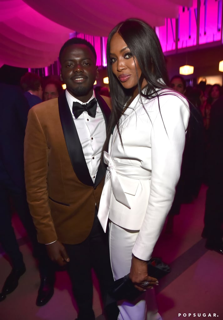 Pictured: Daniel Kaluuya and Naomi Campbell