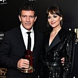 Antonio Banderas and Dakota Johnson at the 23rd Annual Hollywood Film Awards
