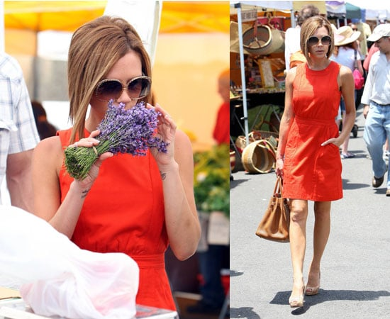 Photos of Victoria Beckham at the Farmers Market