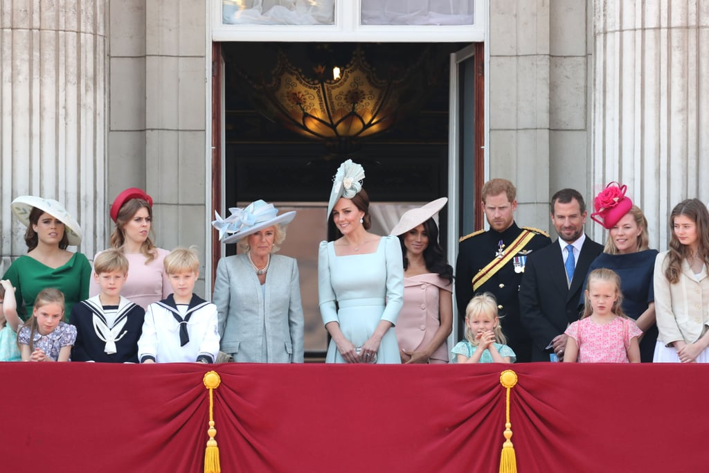 Both Meghan and Eugenie had spots on the balcony of Buckingham Palace for the Trooping the Colour events in June 2018.