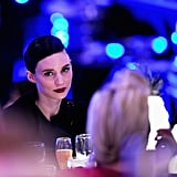Rooney Mara wore dark lipstick at the Costume Designers Guild Awards.