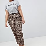 UNIQUE21 Cigarette Pants in Leopard Print