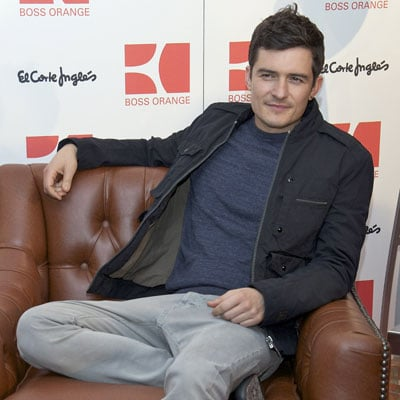 Pictures of Orlando Bloom Promoting Huge Boss Fragrance in Madrid