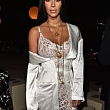 Kim Sat Front Row at Spring 2017 Givenchy Wearing the Pendants