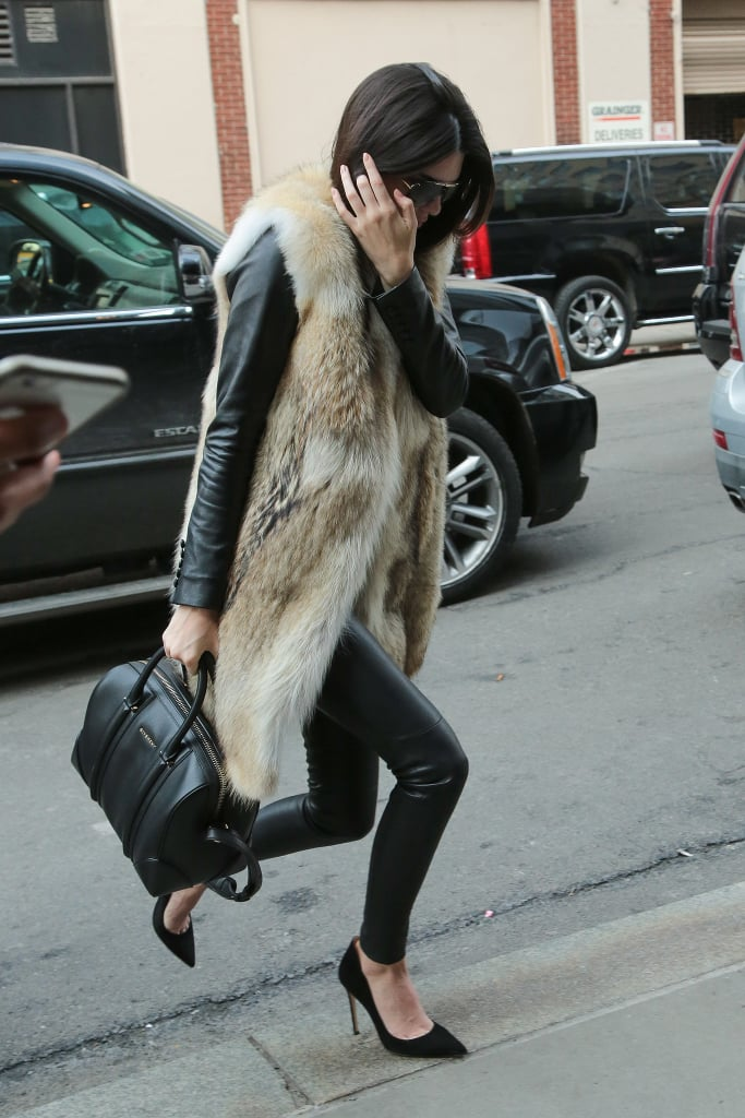 Finish Off a Sleek Look With a Long Furry Waistcoat to Keep Thing Covered