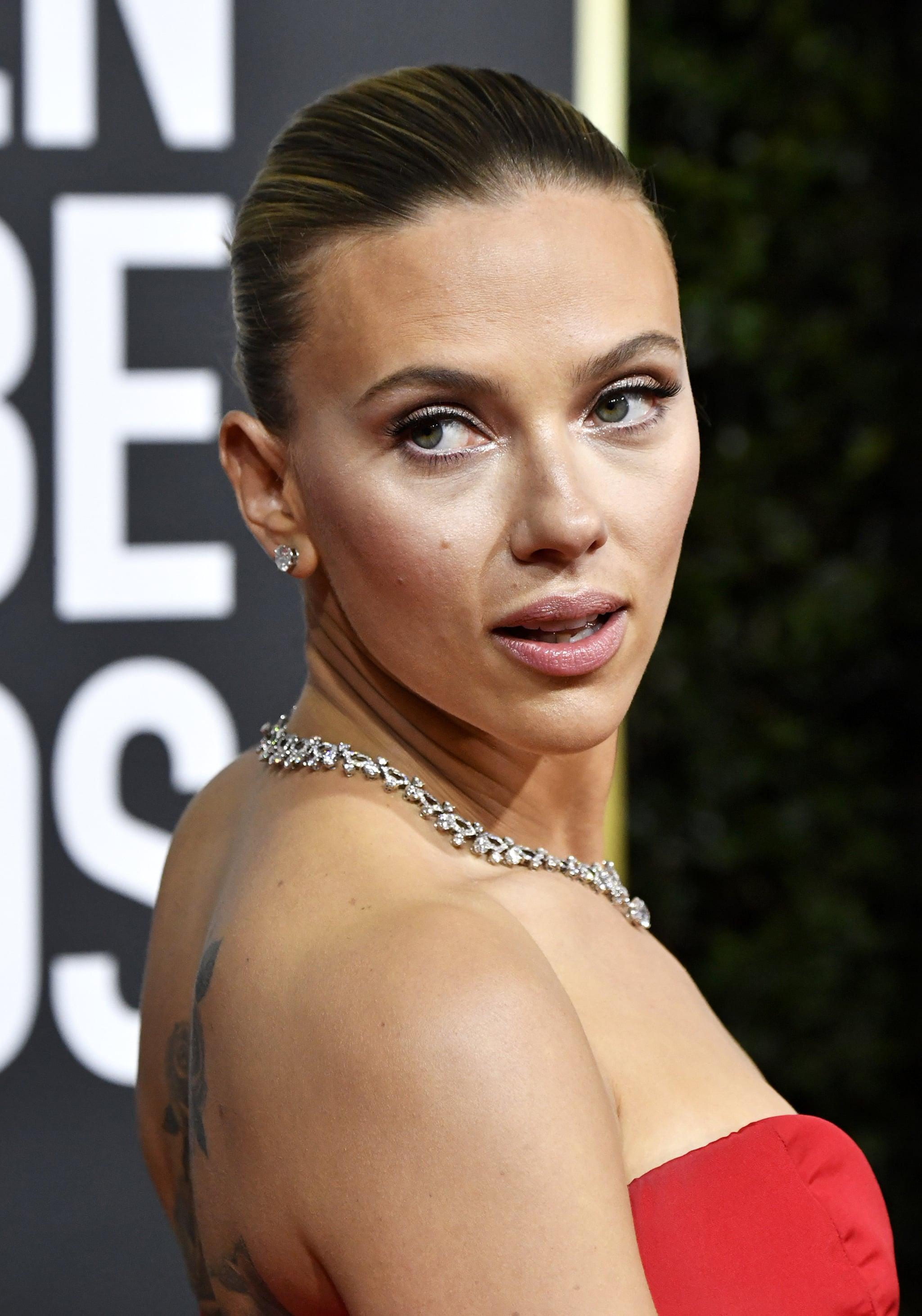 Scarlett Johansson's Back Tattoo   POPSUGAR Celebrity