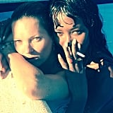 Kate Moss and Naomi Campbell showed us how they take Instagrams during their sunny vacation in Ibiza, Spain.