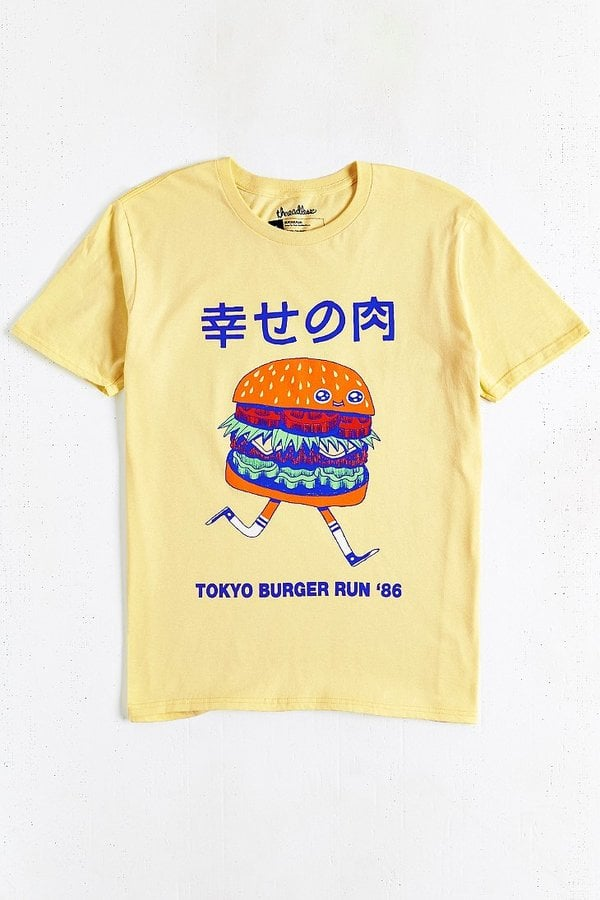 Threadless Tokyo Burger Run Tee 24 Gifts For Junk Food Lovers
