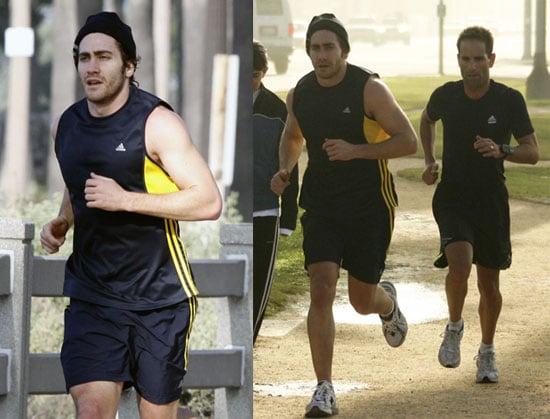 Photos of Jake Gyllenhaal Running in LA Before the Golden Globes