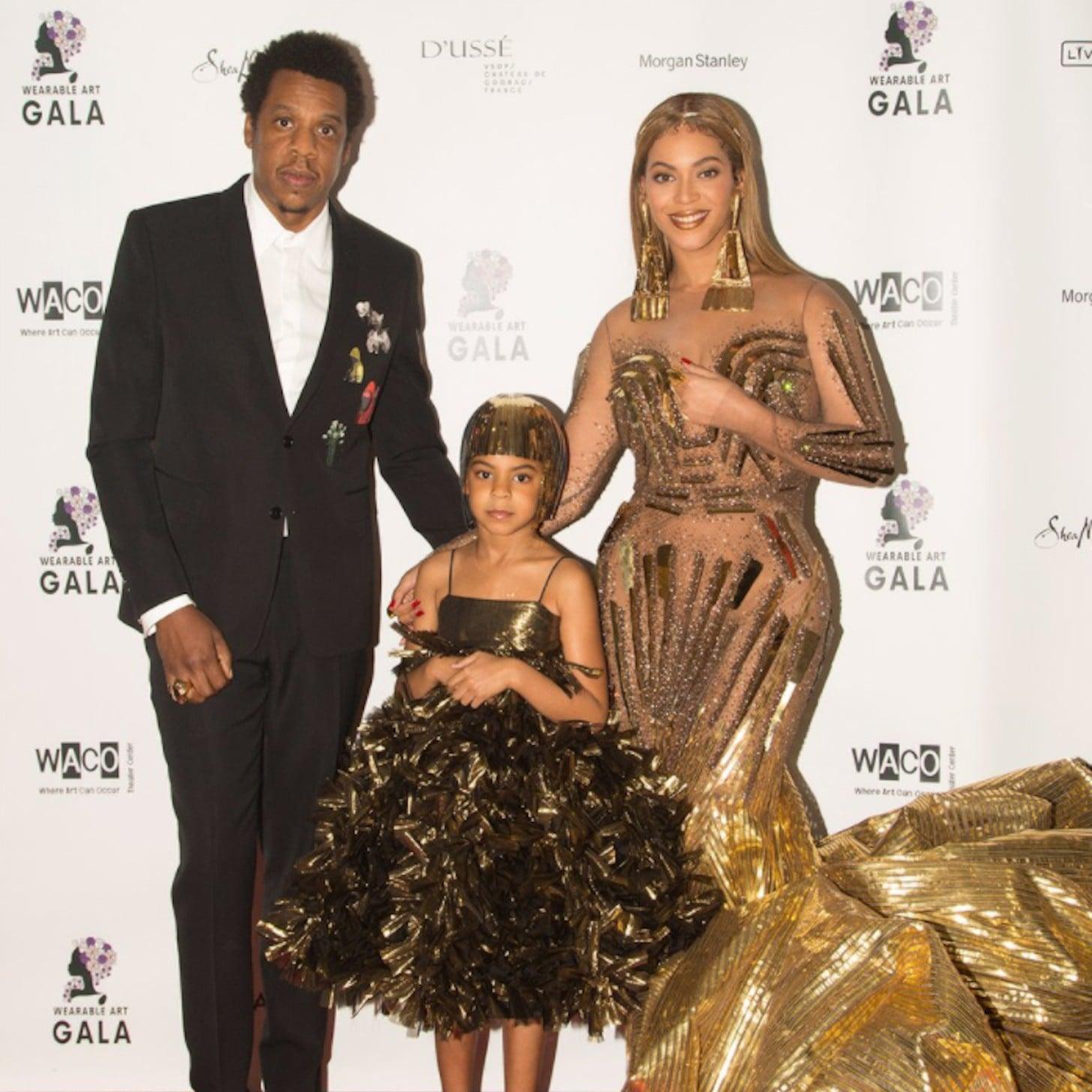 Beyoncé Wearing Gold Dress at 2018 Wearable Art Gala | POPSUGAR Fashion