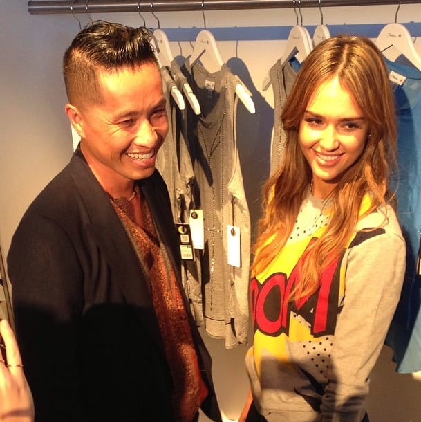 Boom! Jessica Alba and Phillip Lim made a powerful duo at his Target launch. Source: Instagram user 31philliplim