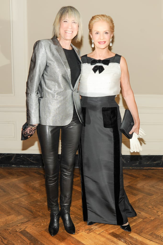 Linda Yablonsky and Carolina Herrera
