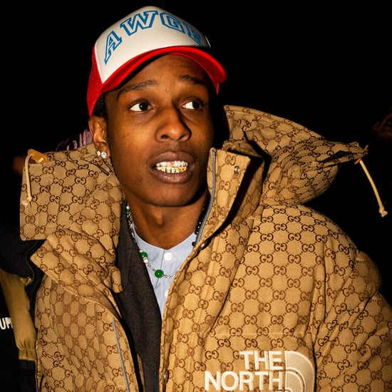 A$AP Rocky Wearing the Coveted Gucci x The North Face Puffer