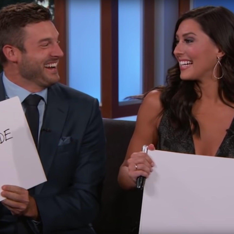 The Bachelorette\'s Becca and Garrett on Jimmy Kimmel Live | POPSUGAR ...