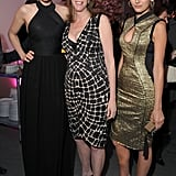 Camilla Belle, Leelee Sobieski, and cofounder of the Tribeca Film Festival Jane Rosenthal linked up at the premiere party for  The Five-Year Engagement.