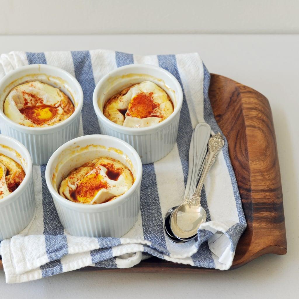 البيض المخبوز بالطريقة الفلبينيّة مع الطماطم والباذنجان