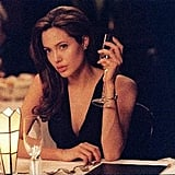 Angelina Jolie sipped on a glass of champagne in her 2005 release, Mr. & Mrs. Smith. Photo courtesy of Regency Entertainment