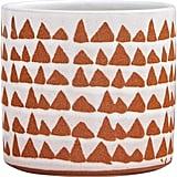 Stone & Beam Modern Ceramic Triangle Decor Planter Pot