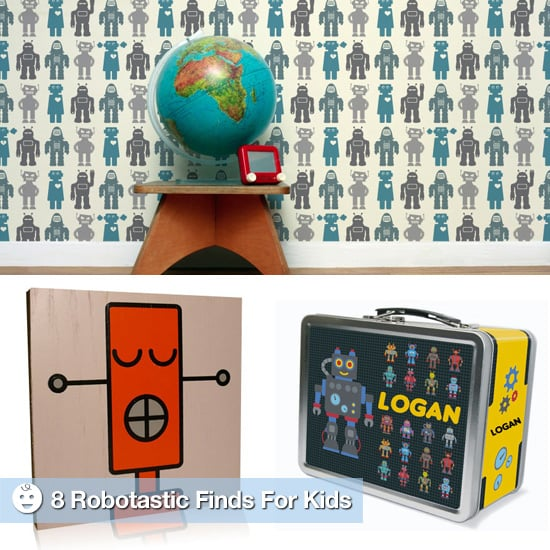 Retro Robot Toys and School Supplies For Kids