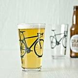 Bike Pint Glass