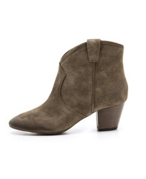 Every girl needs a cool-girl ankle boot like these Ash spiral-heel booties ($195) in her closet.