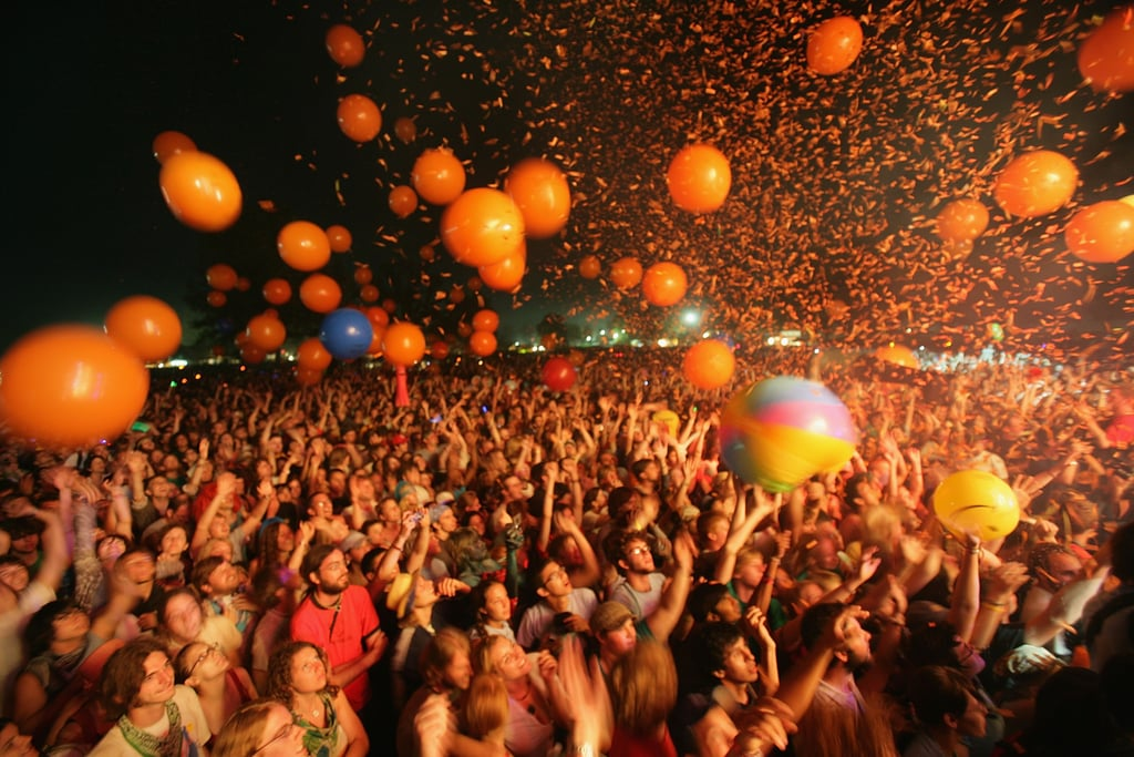 The crowd at The Flaming Lips in 2007.