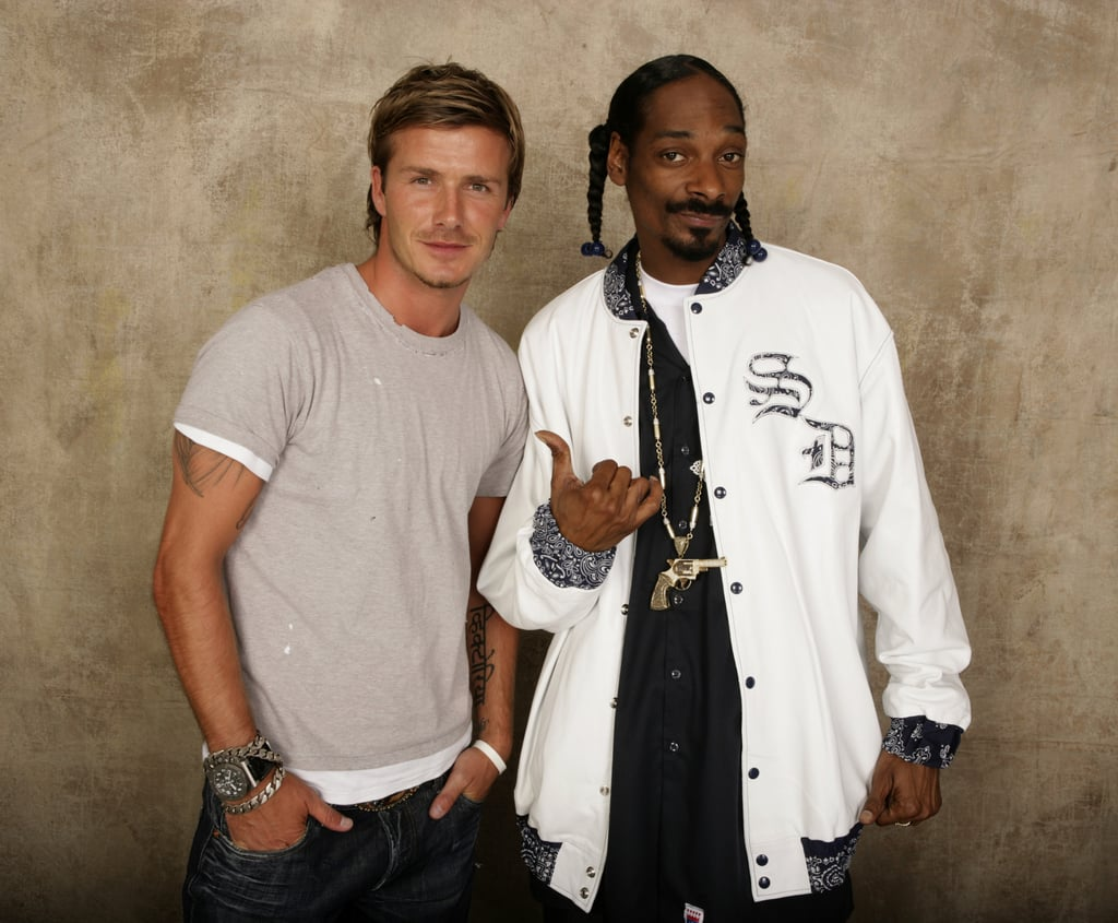 نتيجة بحث الصور عن ‪David Beckham Snoop Dogg Celeb Besties That You Never Knew About‬‏