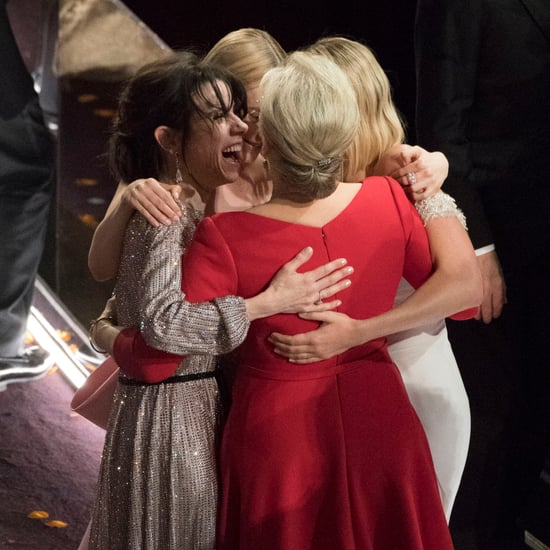 Best Actress Group Hug at the 2018 Oscars