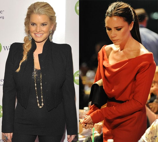 Pictures of Jessica Simpson and Victoria Beckham at the 2010 Women's Conference