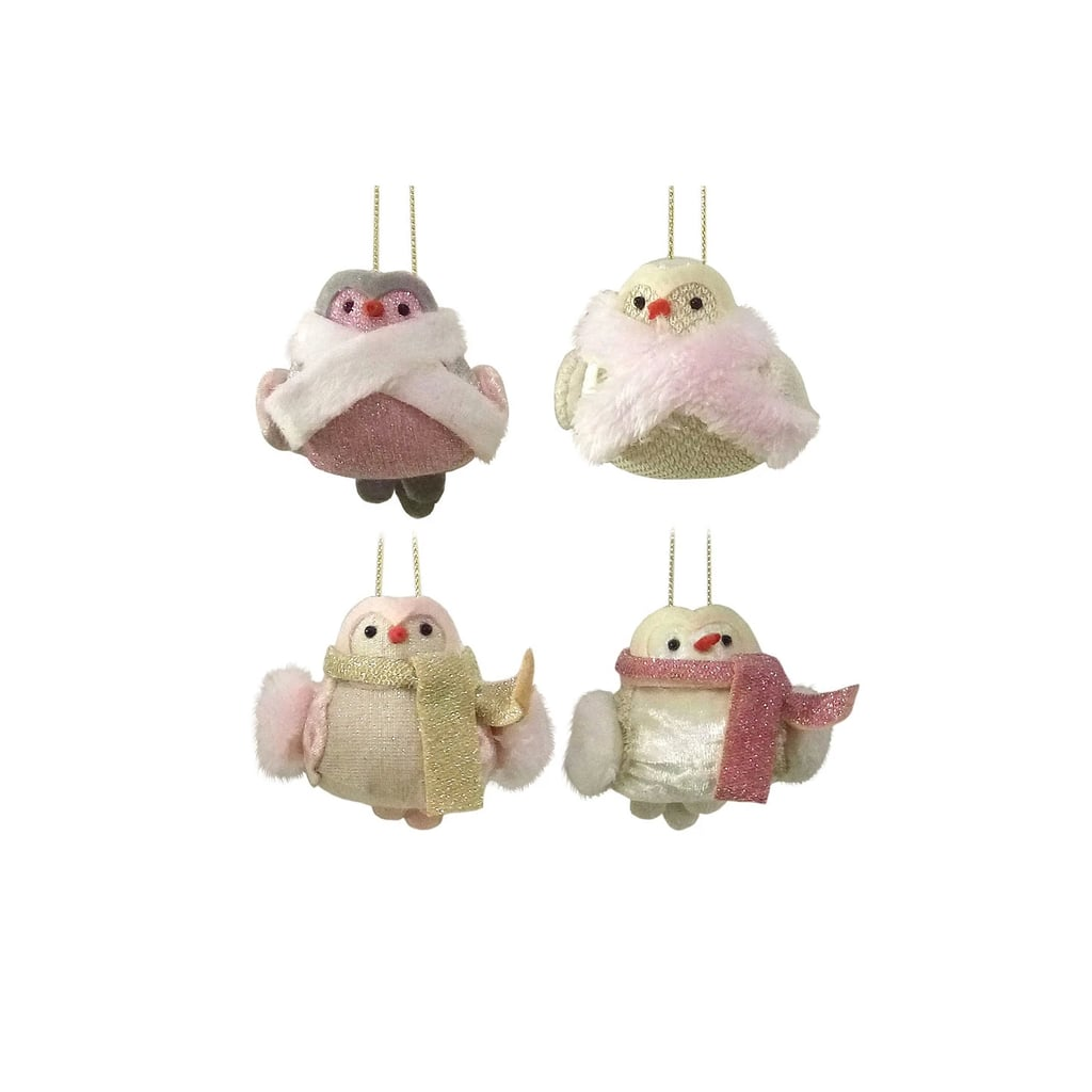 Christmas Tree Shop Waterford Ct Hours: 4ct Enchanted Eve Fabric Mini Birds Christmas Ornament Set