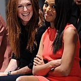 She Sits With Julianne Moore During Fashion Week