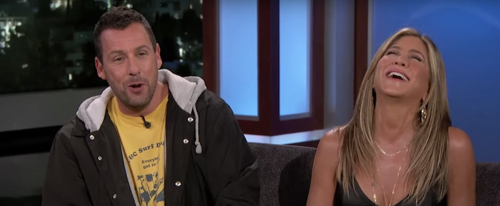 Jennifer Aniston and Adam Sandler on Jimmy Kimmel May 2019