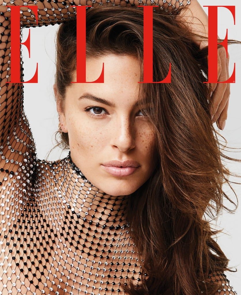 Ashley Graham's White Swimsuit in Elle Magazine