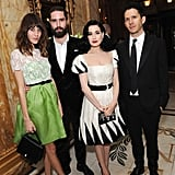 Alexa Chung, Jack Guinness, and Dita Von Teese were out in London for the-miumiu-london day two.