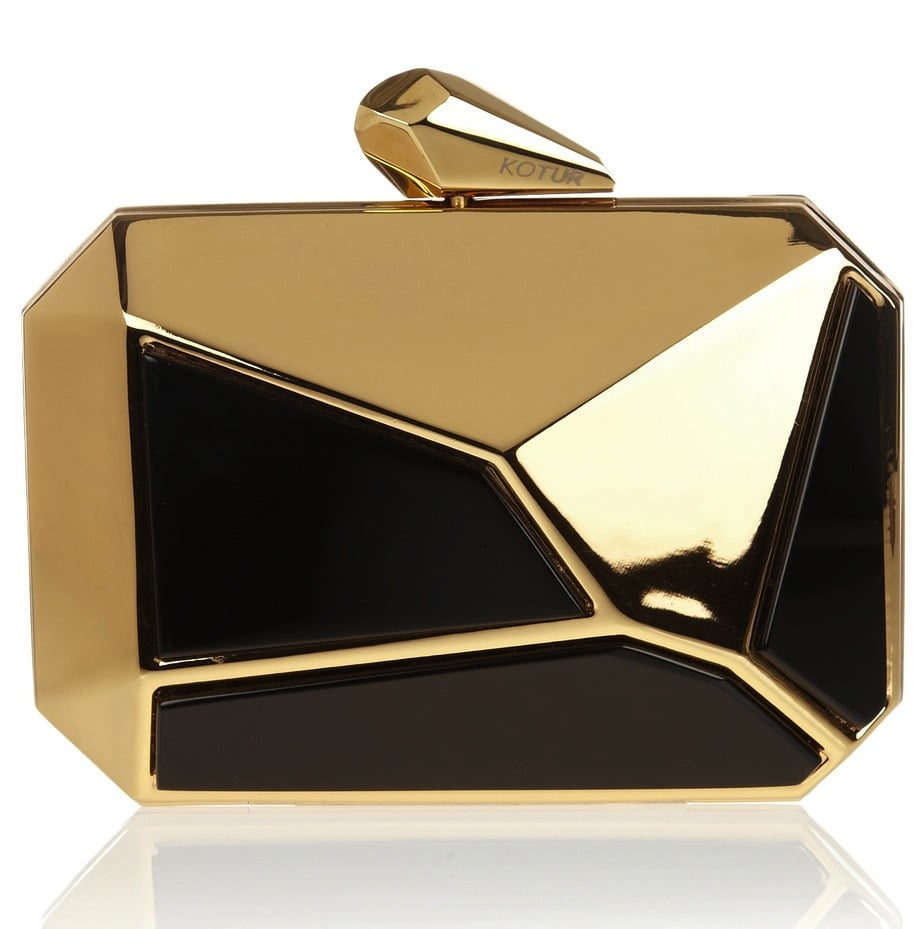 Speaking of architectural, how amazing is this gold Kotur octagonal clutch ($650)? It's like a work of art.