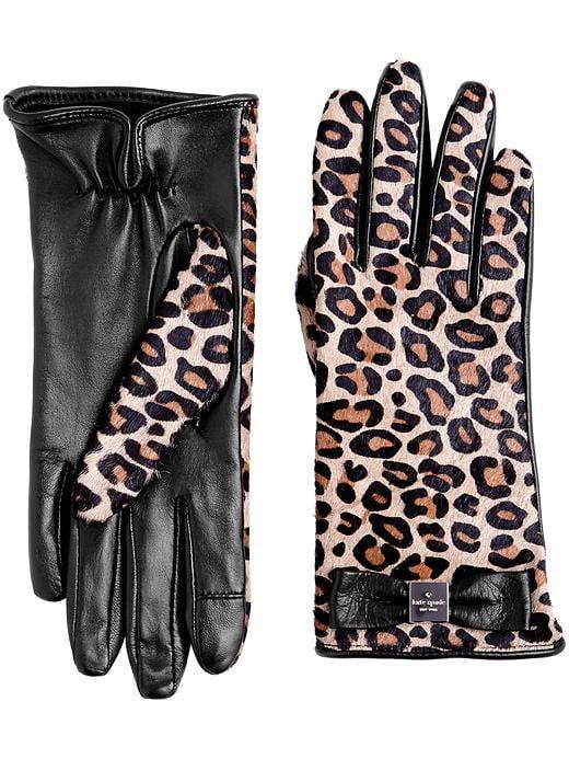Kate Spade Cheetah-Print Gloves