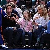 Duchovny at Knicks