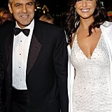 George Clooney held hands with Lisa Snowden at a December 2004 event in LA.