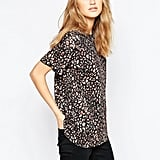 French Connection Electric Leopard T-Shirt In Chestnut ($46)